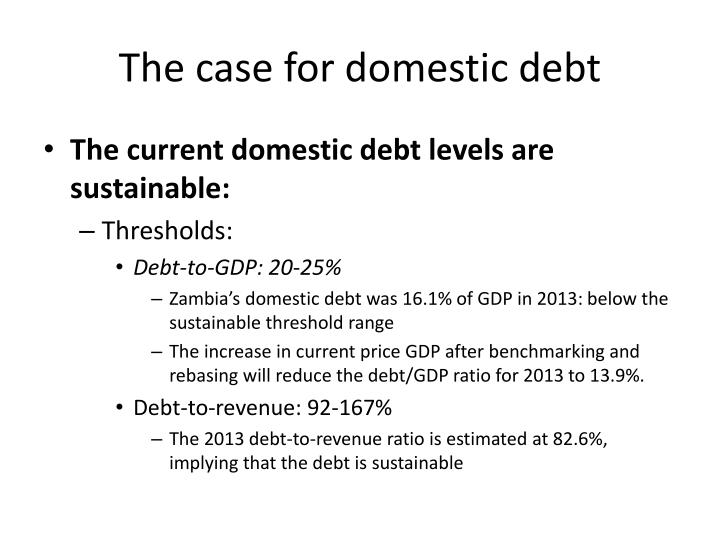 The case for domestic debt