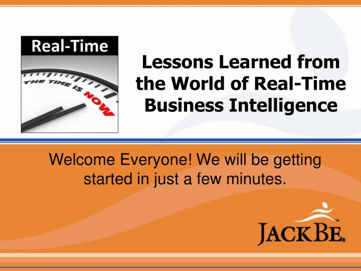 lessons learned from the world of real time business intelligence n.