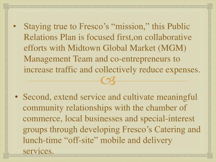 Staying true to Fresco's ""