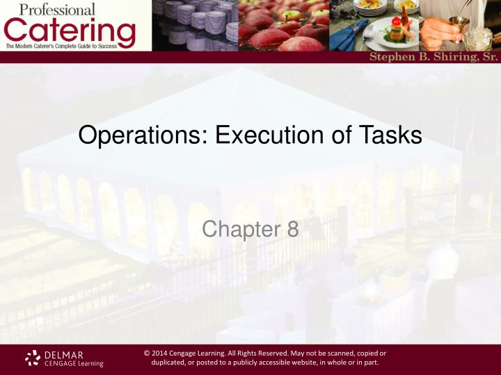 operations execution of tasks n.