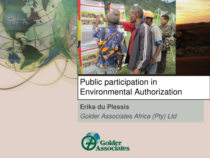 public participation in environmental authorization n.