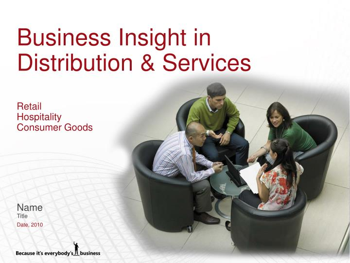 business insight in distribution services retail hospitality consumer goods n.
