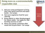 doing more as a environmentally responsible club