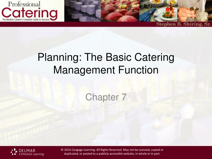 planning the basic catering management function n.