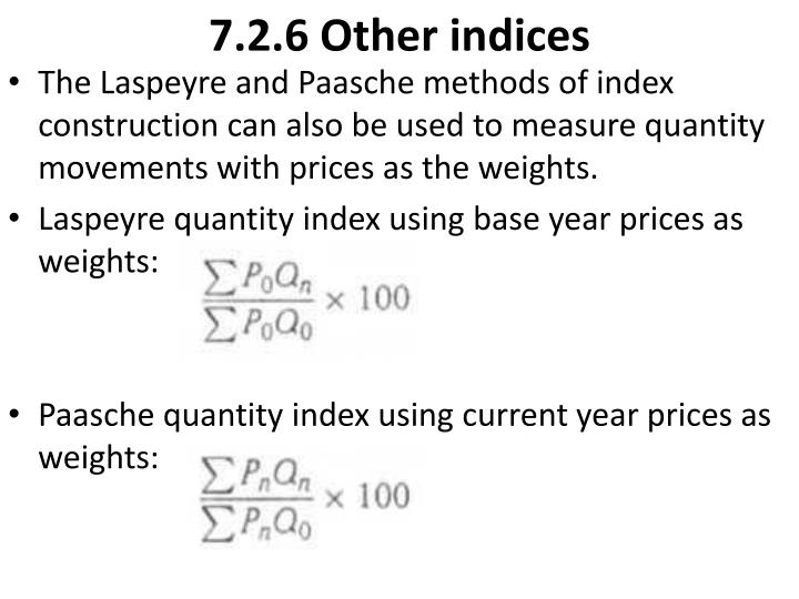 7.2.6 Other indices