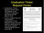 graduation ticket request forms