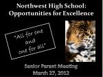 northwest high school opportunities for excellence
