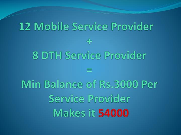12 Mobile Service Provider
