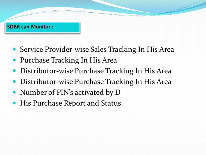 SDBR can Monitor :