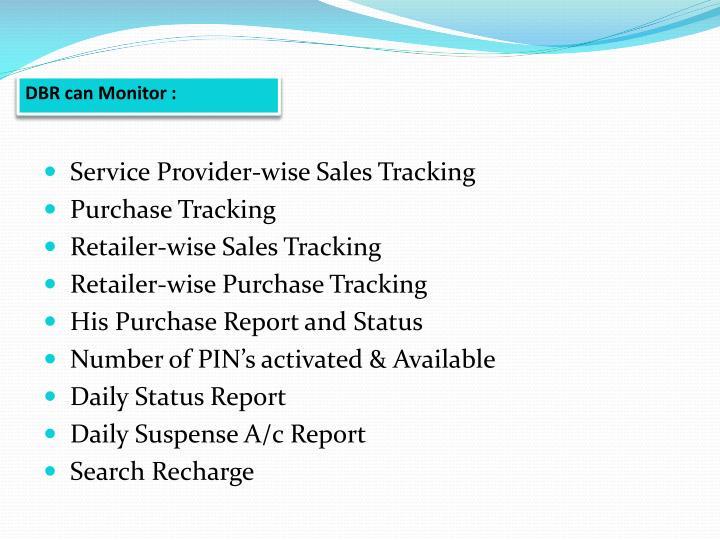 DBR can Monitor :
