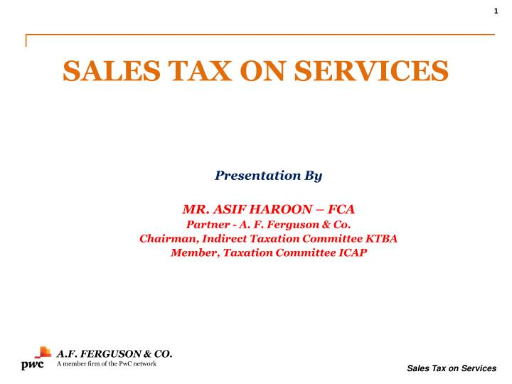 sales tax on services n.