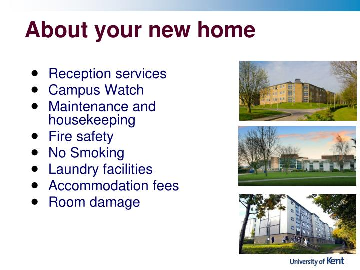About your new home