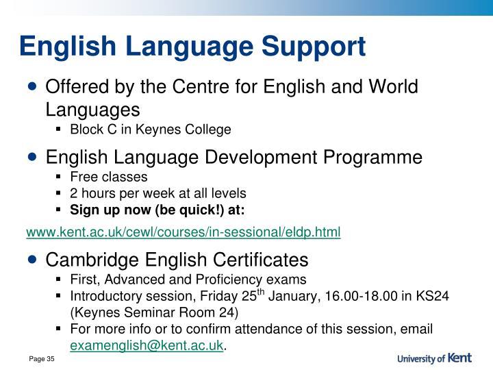 English Language Support