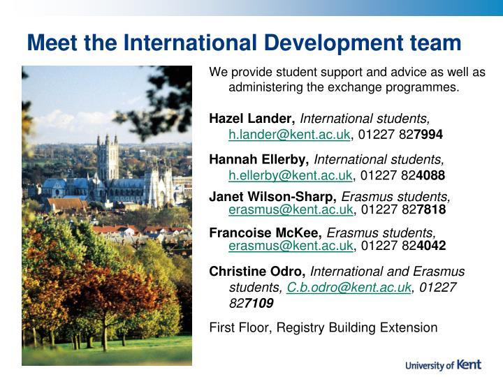 Meet the International Development team