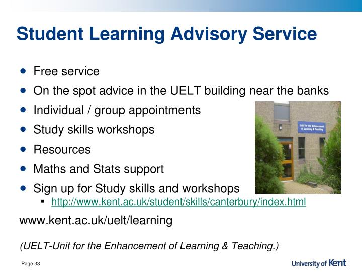 Student Learning Advisory Service
