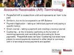 accounts receivable ar terminology