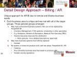 detail design approach billing ar