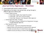 journal entry approvals workflow