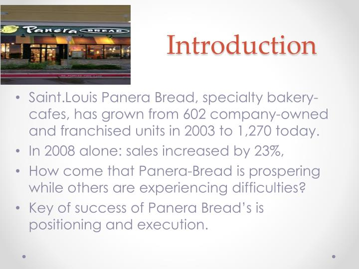 an introduction to the history of panera bread company Mission and vision statement analysis paper example 1: panera bread let the employees know what sort of company it is and how it operates.