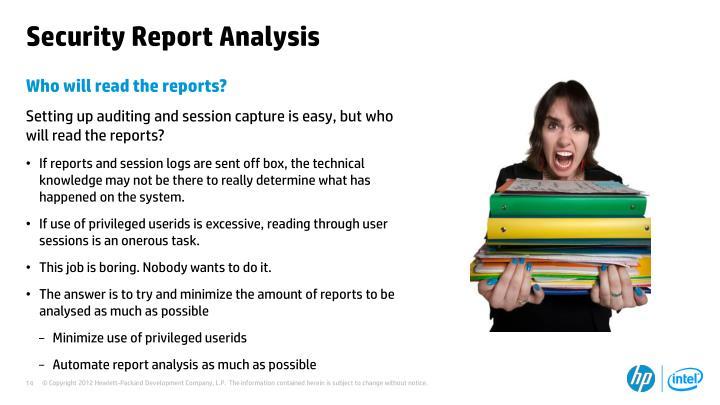 Security Report Analysis