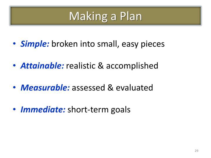 Making a Plan