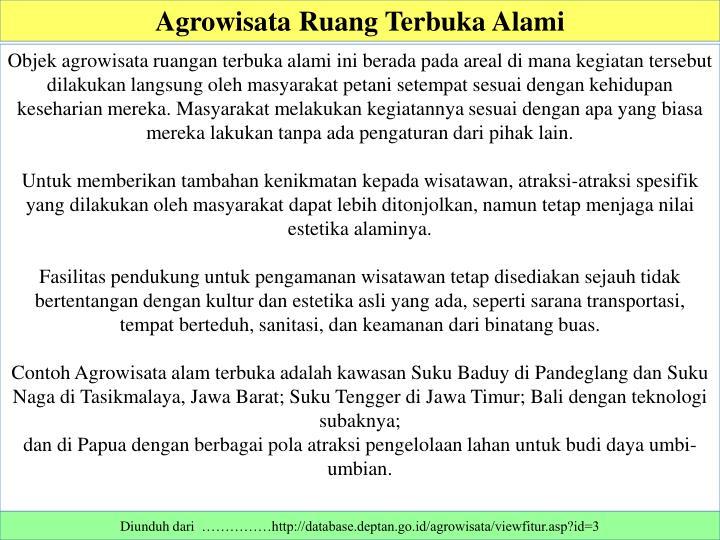 Ppt Pengelolaan Agro Wisata Powerpoint Presentation Id 1645339