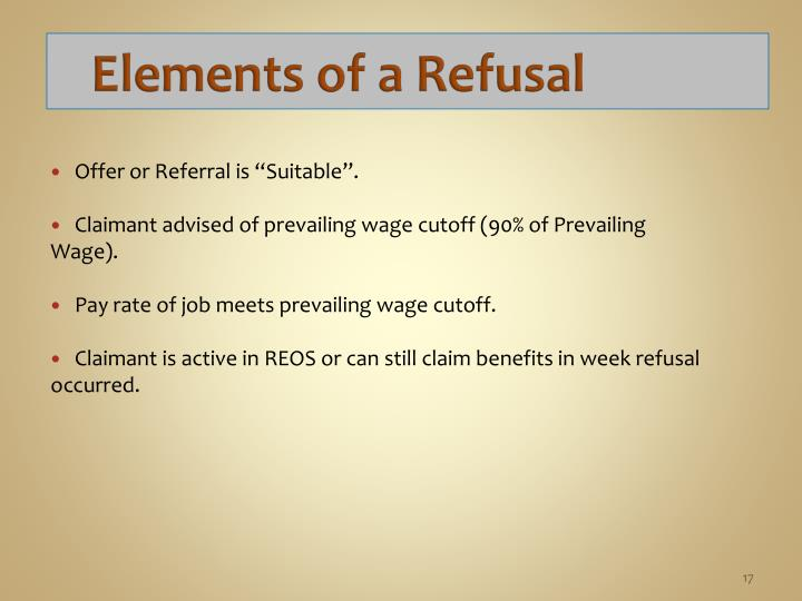 Elements of a Refusal