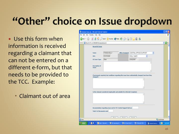 """""""Other"""" choice on Issue dropdown"""