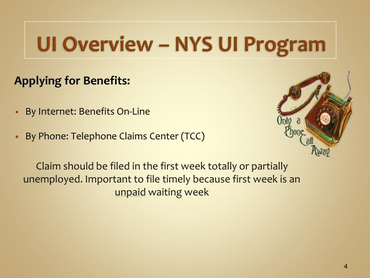 UI Overview – NYS UI Program