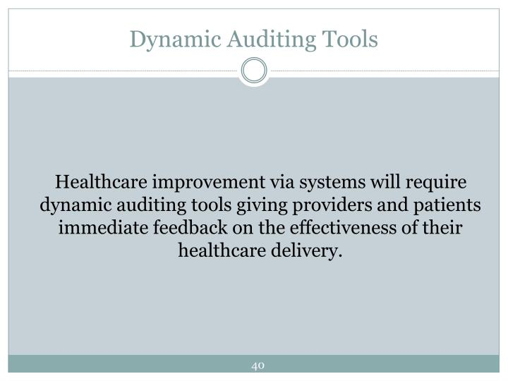 Dynamic Auditing Tools