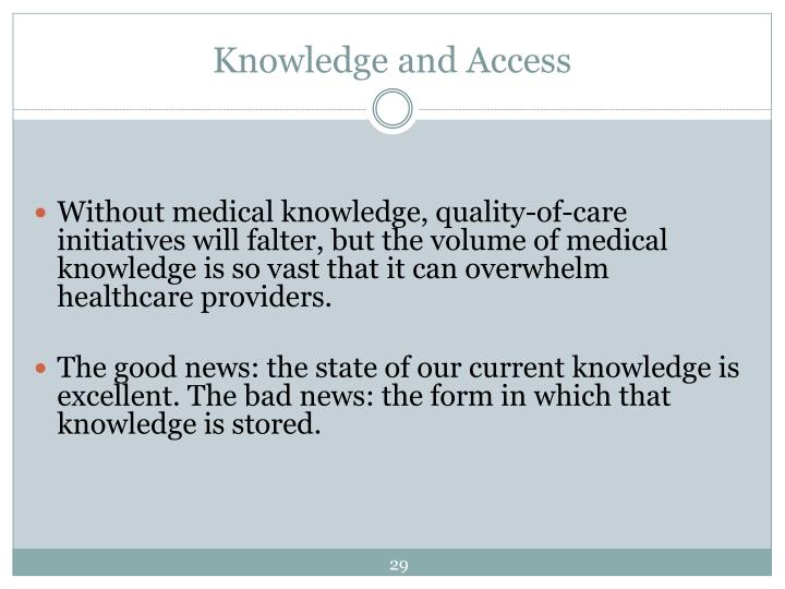 Knowledge and Access