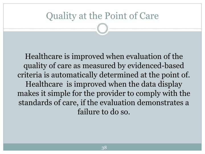 Quality at the Point of Care