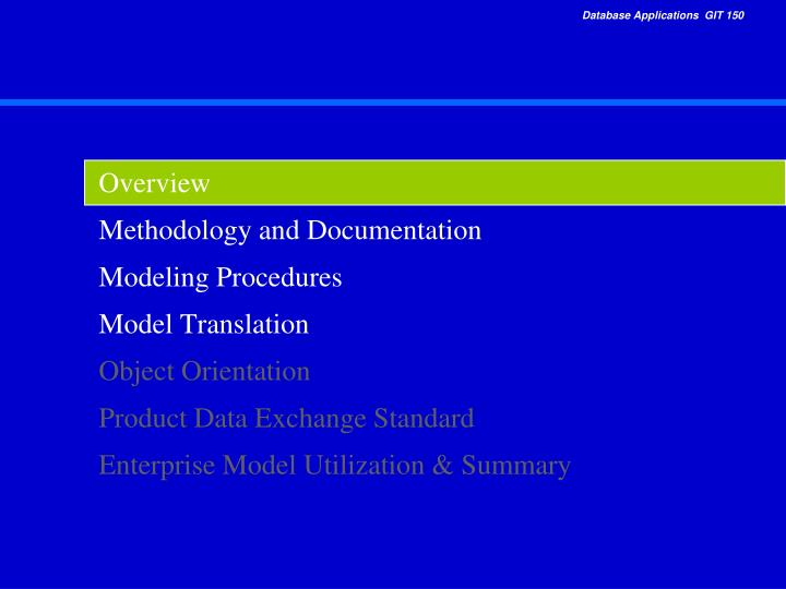PPT - Overview Methodology and Documentation Modeling