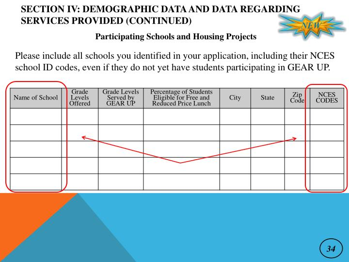Section IV: Demographic Data and Data Regarding Services Provided (continued)