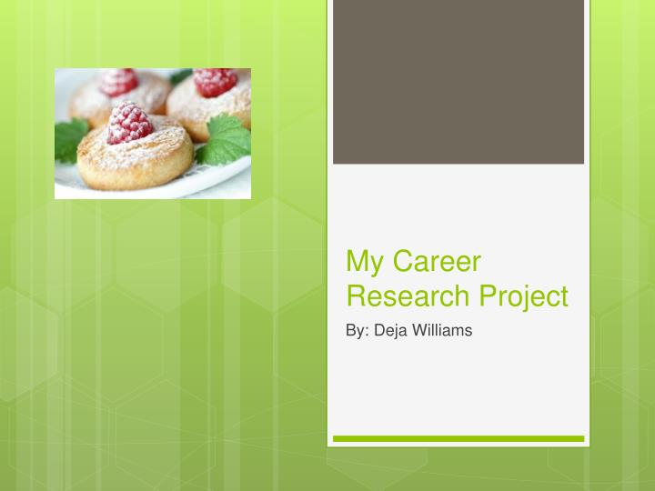 my career research project n.