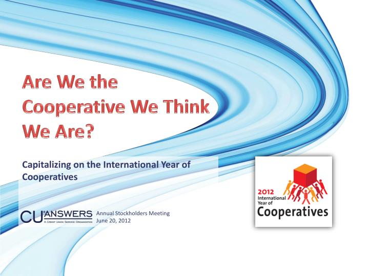 are we the cooperative we think we are n.