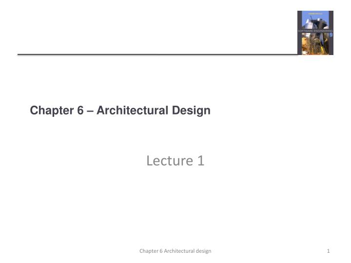 chapter 6 architectural design n.