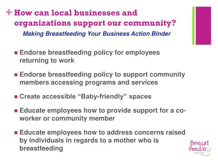 How can local businesses and organizations support our community?