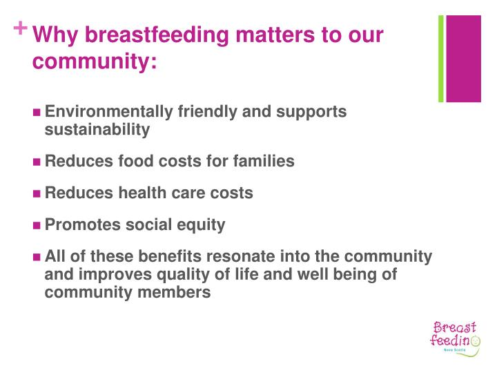 Why breastfeeding matters to our community: