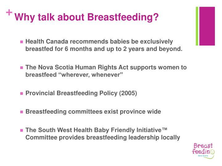 Why talk about breastfeeding