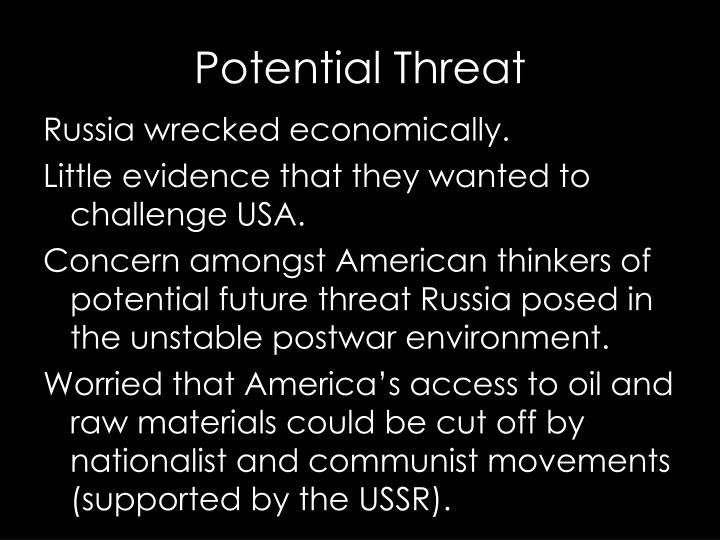Russia wrecked economically.
