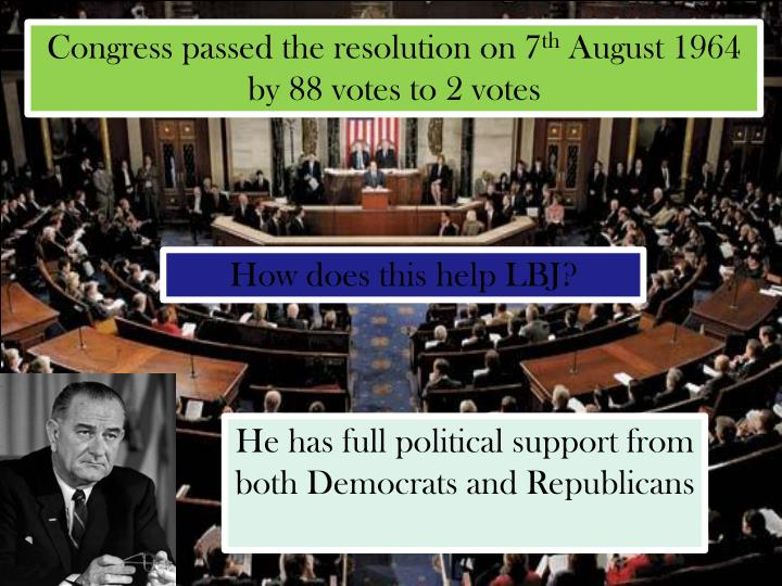 Congress passed the resolution on 7