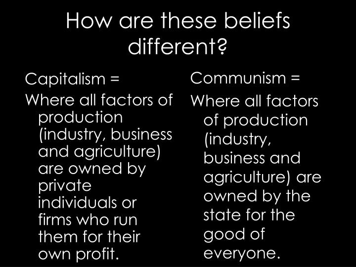 How are these beliefs different?
