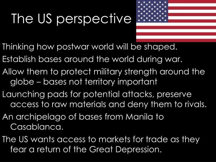 Thinking how postwar world will be shaped.