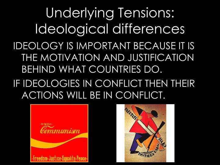 IDEOLOGY IS IMPORTANT BECAUSE IT IS THE MOTIVATION AND JUSTIFICATION BEHIND WHAT COUNTRIES DO.
