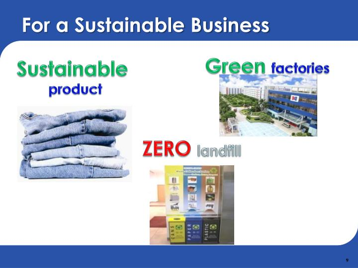 For a Sustainable Business