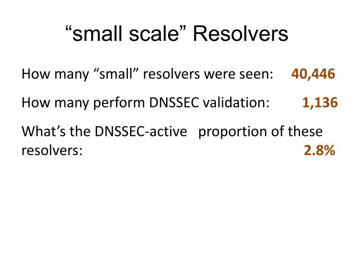 """""""small scale"""" Resolvers"""