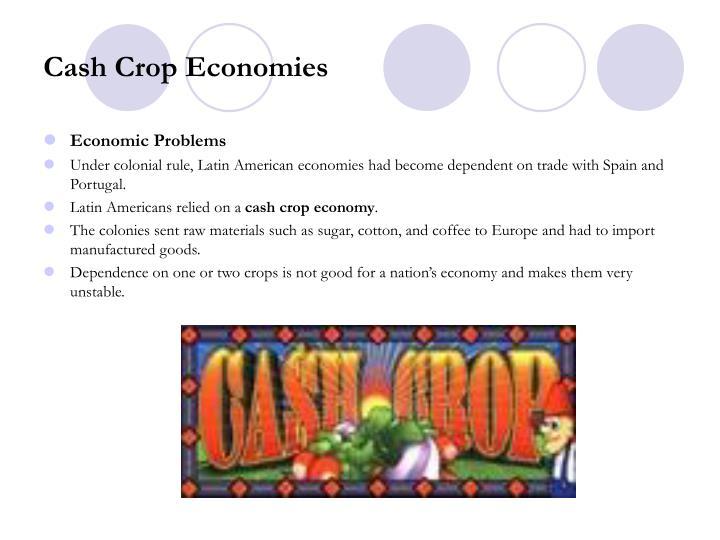 Cash Crop Economies
