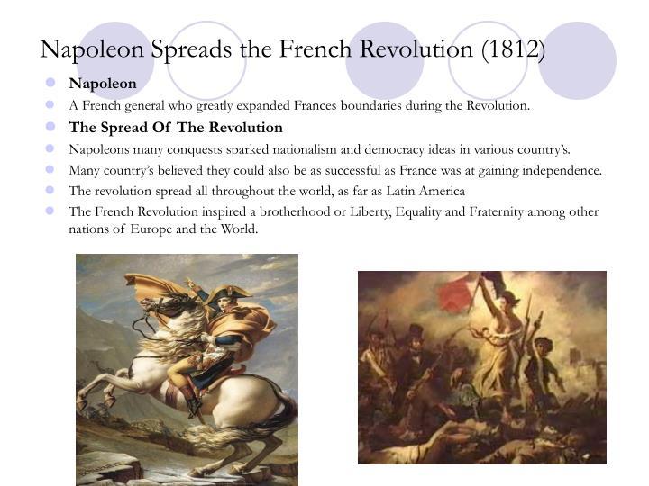 Napoleon Spreads the French Revolution (1812)
