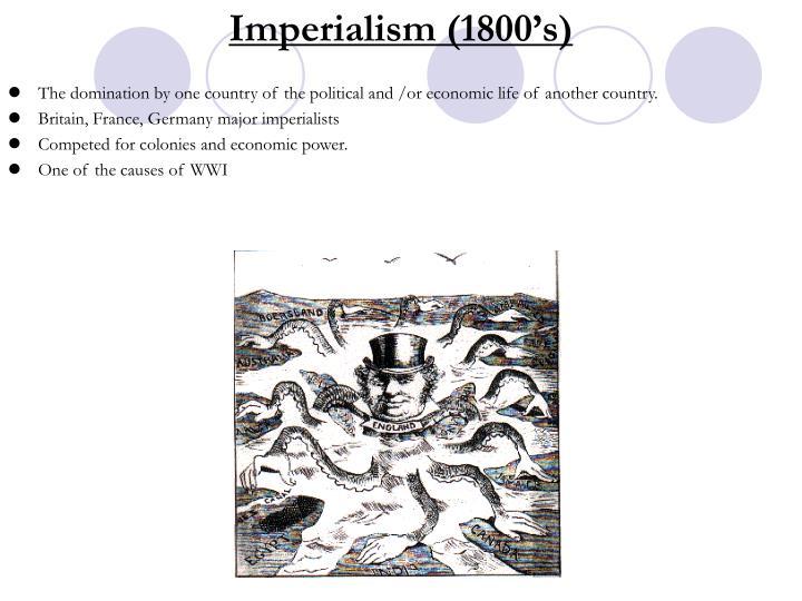Imperialism (1800's)